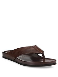 To Boot Studded Leather Thong Sandals Brown