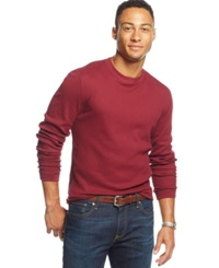 Club Room Big And Tall Thermal Long Sleeve T Shirt Only At Macy's Cherry Wine