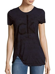 Calvin Klein Jeans Animal Flock Textured Tee Black
