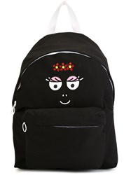 Joshua Sanders Face Embroidered Backpack Black
