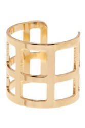14Th And Union Open Squares Cuff Ring Size 8 Metallic