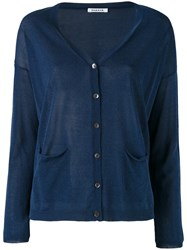 P.A.R.O.S.H. Knitted Cardigan Women Cotton Viscose Xl Blue