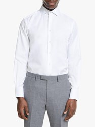 Smyth And Gibson Cotton Twill Contemporary Fit Shirt White