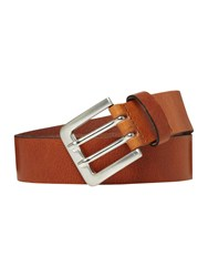 Howick Double Prong Leather Belt Tan