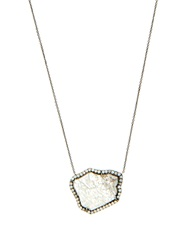 Susan Foster Diamond Slice And White Gold Necklace