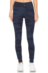 Splendid Camo Thermal Leggings Navy