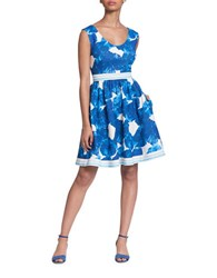 Plenty By Tracy Reese Carla Floral A Line Dress Blue Multi