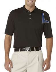 Callaway Oversized Chevron Polo Black