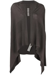 Rick Owens Medium Wrap Cardigan Grey