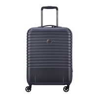 Delsey Caumartin 4 Wheel Slim Trolley Case 55Cm Anthracite Navy Blue