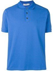 Pringle Of Scotland Logo Polo Shirt Blue