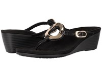 Vionic Orchid Black Sheep Nappa Women's Wedge Shoes