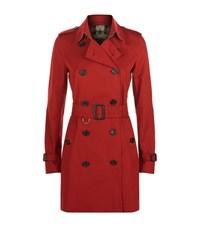 Burberry The Kensington Mid Length Heritage Trench Coat Female Red