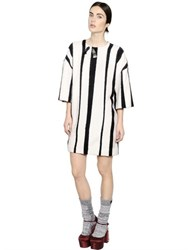 Rochas Embellished Striped Wool Dress