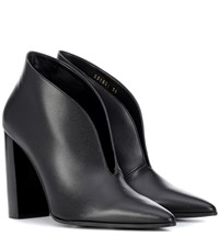 Stella Mccartney High Vamp Ankle Boots Black