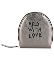 Ann Demeulemeester Embroidered Pouch Metallic