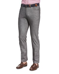 Peter Millar Melange Knit Hybrid Pants Charcoal Grey