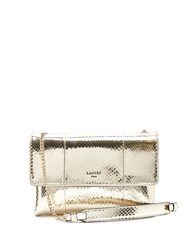 Lanvin Sugar Mini Snakeskin Cross Body Bag Gold