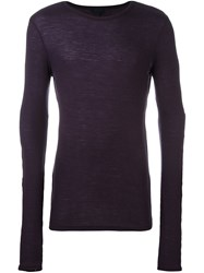 Lanvin Slim Knit Jumper Pink And Purple