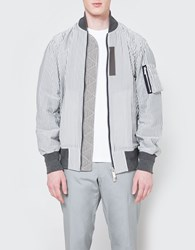 Sacai Hickory Stripe Blouson Black White