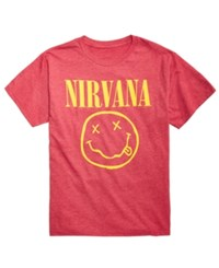 Fea Nirvana Graphic Print T Shirt Lt Pas Red