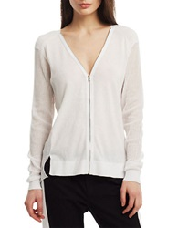 Kenneth Cole Pari Zip Sweater White