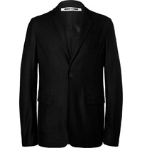 Mcq By Alexander Mcqueen Black Curtis Slim Fit Unstructured Wool Pique Blazer Black