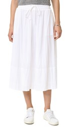 James Perse Puckered Gauze Full Skirt White