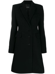 Pinko Single Breasted Coat Black