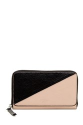 Perlina Easy Colorblock Zip Around Wallet Brown