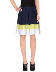 D.Exterior Skirts Knee Length Skirts Women Dark Blue