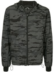 The Upside Camouflage Print Hooded Jacket Grey