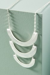 Anthropologie Crescent Pendant Necklace Silver