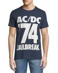 Chaser Ac Dc Graphic T Shirt Blue