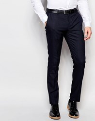 Selected Homme Skinny Smart Trousers In Pin Dot Navy