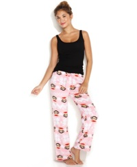 Paul Frank Cute Cozy Pajama Pants Pink Check