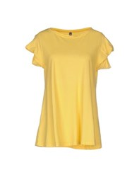 European Culture Topwear T Shirts Women Yellow