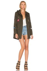 Jocelyn Cargo Coat With Exclusive Patches Army