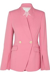 Rebecca Vallance Sienna Double Breasted Crepe Blazer Pink