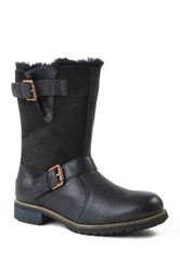 Australia Luxe Collective Easy Rider Genuine Skeepskin And Shearling Boot Black