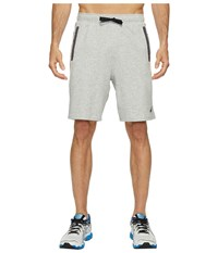 Asics Knit Shorts Light Grey Heather Men's Shorts Gray