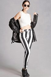 Forever 21 Motel Striped Twill Skinny Pants