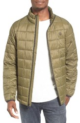 Volcom Men's Volpofer Quilted Jacket Military