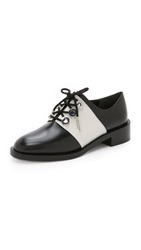 Kenzo Two Tone Lace Up Oxfords Blanc