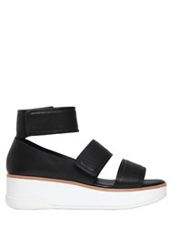 Dkny 50Mm Leather Straps Wedge Sandals