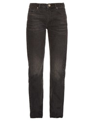 Raey Rail High Rise Cigarette Leg Jeans Black