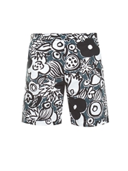 Marni Floral Print Cotton Shorts
