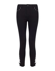 Miss Selfridge Lizzie High Waist Jeans Black