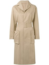 08Sircus Classic Coat Women Cotton Linen Flax Cupro 1 Nude Neutrals