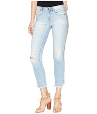 Miss Me Mid Rise Ankle Straight Jeans In Light Blue Light Blue